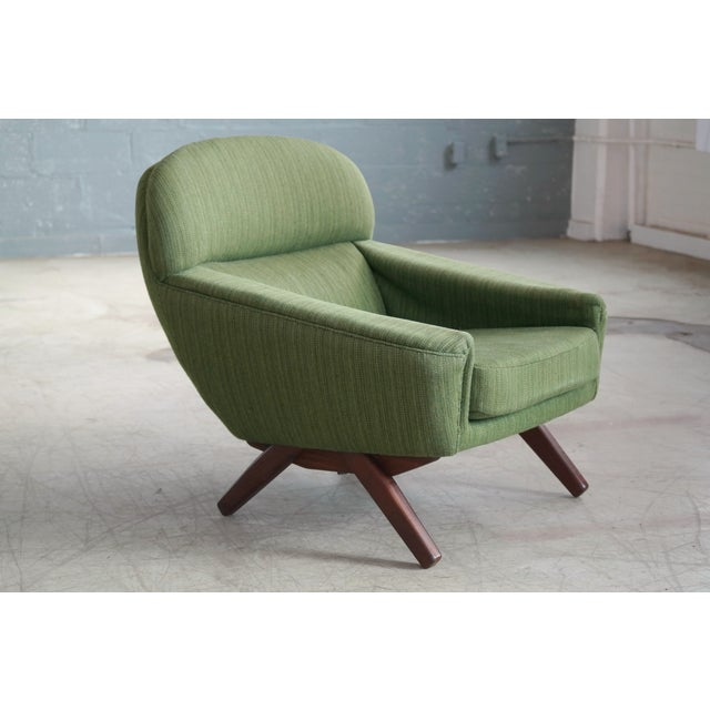 Danish Illum Wikkelso Style High and Low Lounge Chairs by Leif Hansen - a Pair For Sale In New York - Image 6 of 13