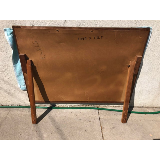 Vintage Mid Century Walnut Mirror For Sale In Los Angeles - Image 6 of 9