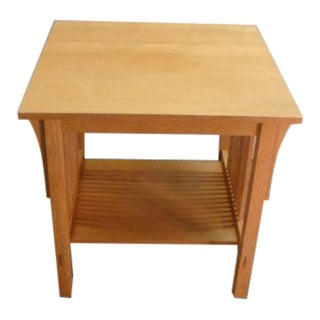 Stickley Mission Oak Arts and Crafts Lamp Table For Sale