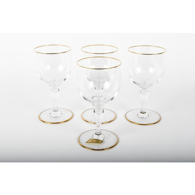 Mid 20th Century Vintage Baccarat Crystal Wine Glasses - Set of 4 For Sale - Image 5 of 5