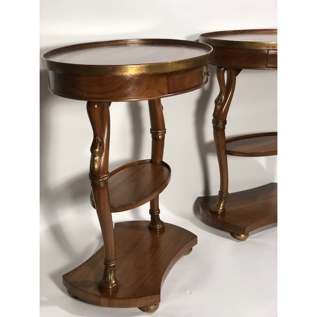 Art Deco Pair of French Swan Side Tables For Sale - Image 3 of 8