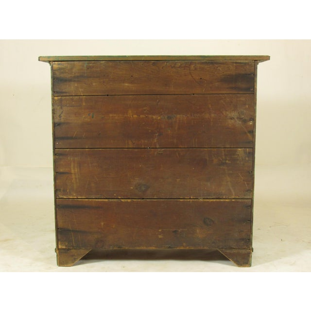 19th C. American Green Painted Cupboard For Sale - Image 11 of 12