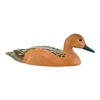 Rustic Hand-Carved Wood Duck