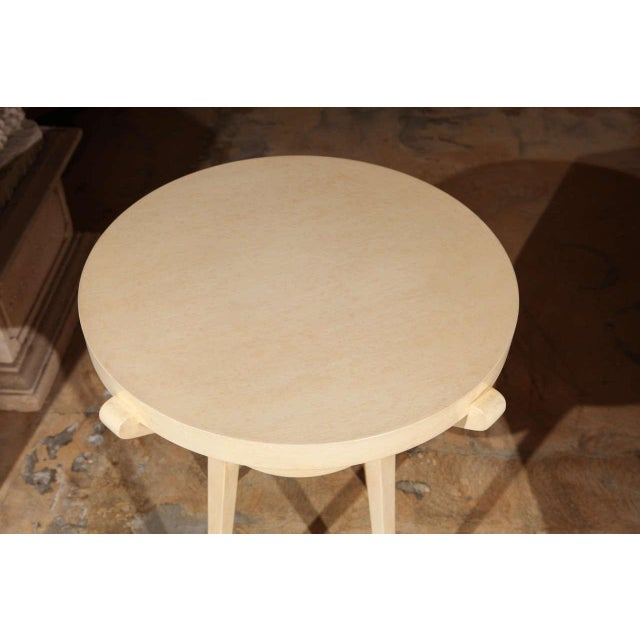 1990s Sculptural Painted Parchment Finish Side Table For Sale - Image 5 of 7