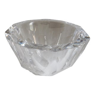 Orrefors Sweden Small Cut Crystal Bowl For Sale