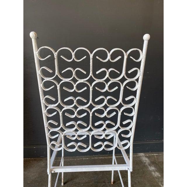 Mid-Century Modern Mid Century Modern Arthur Umanoff Iron Patio Table & 4 Chairs For Sale - Image 3 of 9
