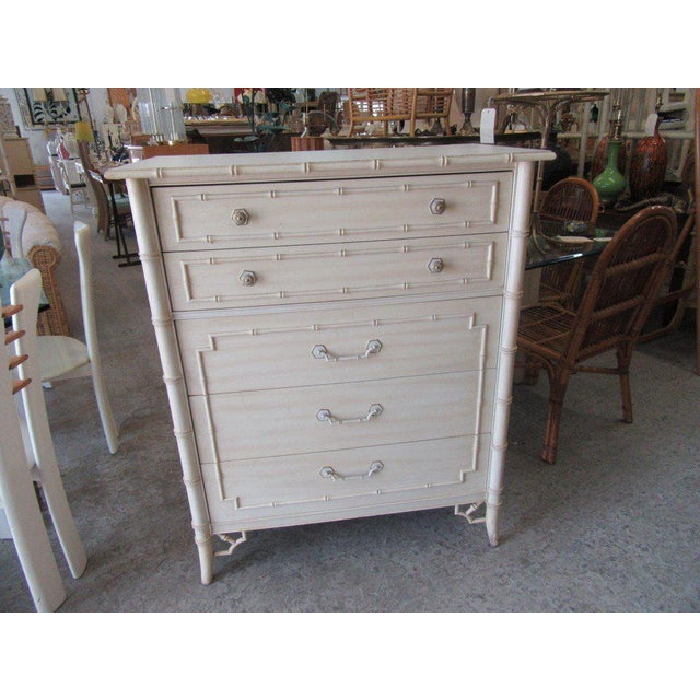 Thomasville Palm Beach Faux Bamboo Dresser - Image 2 of 8