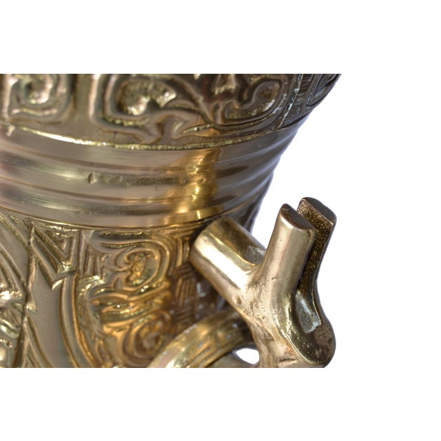 Gold Bronze and Wood Table Lamp For Sale - Image 8 of 10