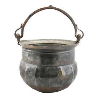 Vintage Tinned Copper Pail | Copper Bucket
