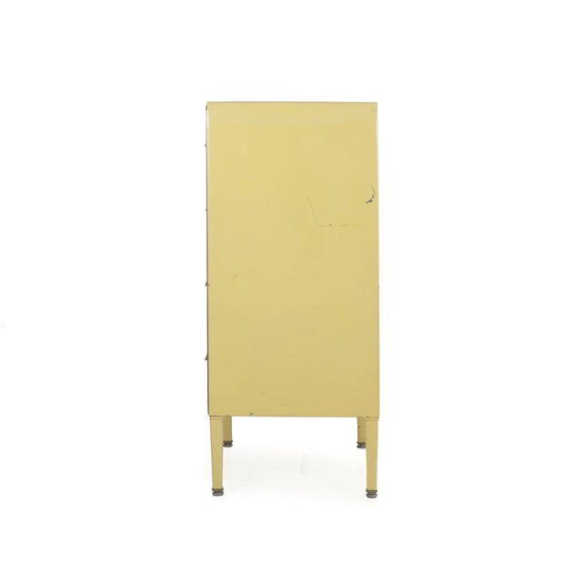 1930s Circa 1930s Art Deco Yellow Enamel Chest of Drawers Dresser by Norman Bel Geddes For Sale - Image 5 of 13
