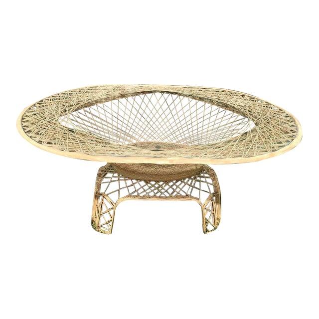 Vintage Natural Color Spun Fiberglass Table For Sale