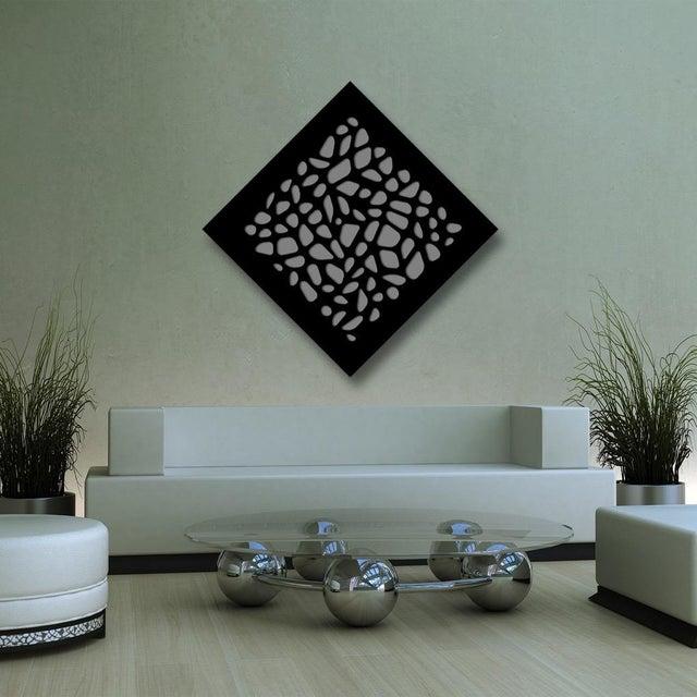 Pop Art Chuck Krause Stones (Black & Gray), original three dimensional geometric design wall relief 2020 For Sale - Image 3 of 4