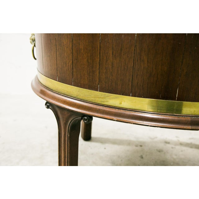 English George III Style Brass Bound Wine Cooler For Sale - Image 10 of 12