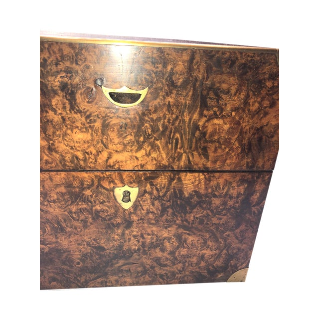 19th Century Antique English Campaign Style Box For Sale - Image 5 of 9