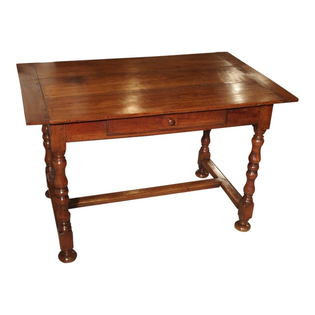 Antique Cherry and Walnut Wood Side Table, 18th Century For Sale
