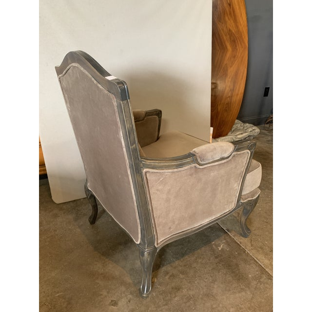 2010s Transitional Style Lucille Club Chair & Ottoman For Sale - Image 5 of 8