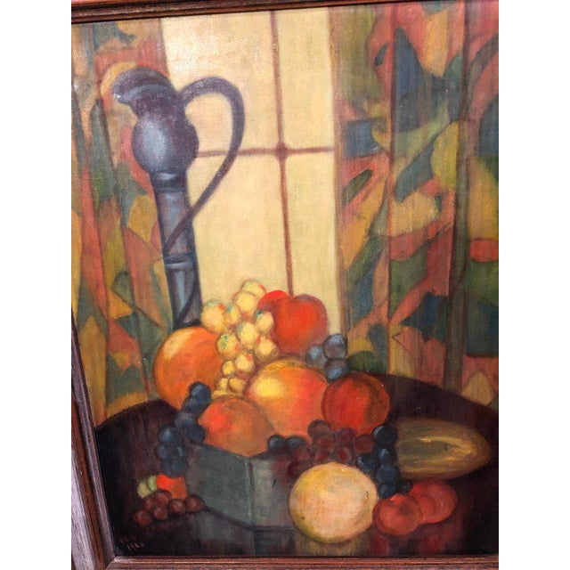 Vintage Mid-Century Still Life on Board Painting For Sale In New York - Image 6 of 13