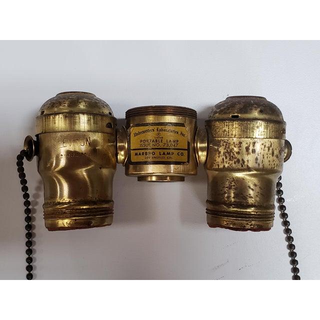 Metal Marbro Black Porcelain & Brass Amphora Jar Lamp For Sale - Image 7 of 9