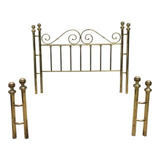 Brass King Size Open Toe Bedframe For Sale