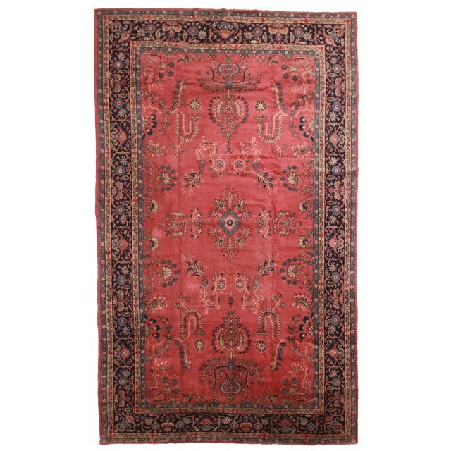RugsinDallas Antique Hand Knotted Wool Turkish Sparta Rug - 9′ × 15′ For Sale