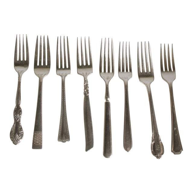 Vintage Silverplate Dinner Forks - Set of 8 - Image 1 of 7