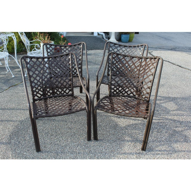Mid 20th Century Mid-Century Modern Brown Jordan Outdoor Seats - Set of 4 For Sale - Image 5 of 5