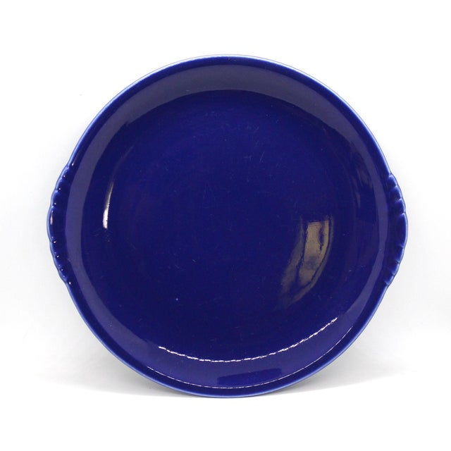 1930s 1930's Paden City Pottery Caliente Shell Serving Plates With Scalloped Edges - Set of 4 For Sale - Image 5 of 9