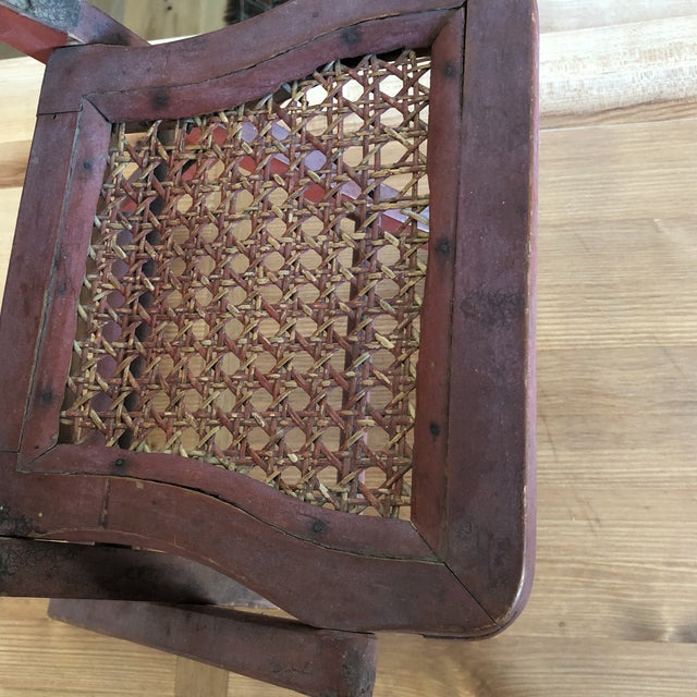 Antique Chinese Child's or Doll's Chair For Sale - Image 5 of 8