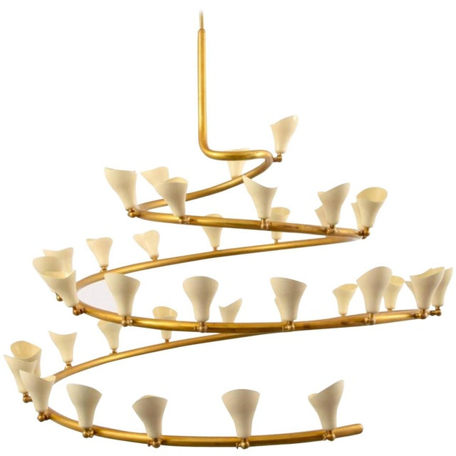 Gino Sarfatti for Arteluce Large Spiral Chandelier - Image 6 of 6
