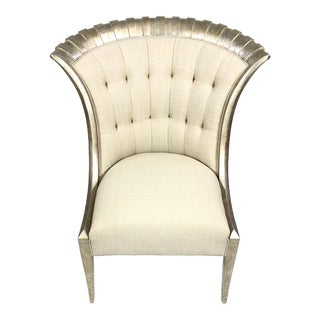 Contemporary Caracole Tufted Upholstery Club Chair