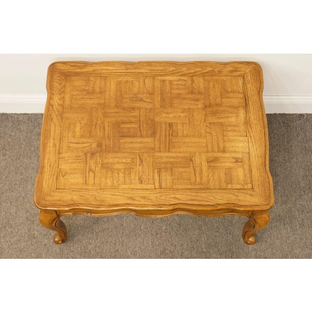 Weiman Furniture Country French Parquet Top Coffee Table For Sale - Image 9 of 12