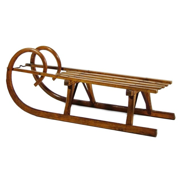 Vintage Wooden Sled Coffee Table - Image 1 of 5