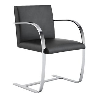 Knoll Ludwig Mies Van Der Rohe Flat Bar Brno Leather Chair