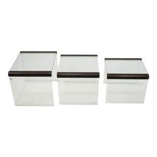Pierangelo Galloti Three Gigognes Side Tables, Gallotti & Radice Manufacture For Sale