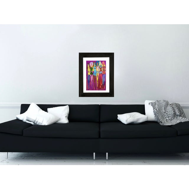 Fashion Pop Art Painting by Tony Marine For Sale - Image 4 of 4