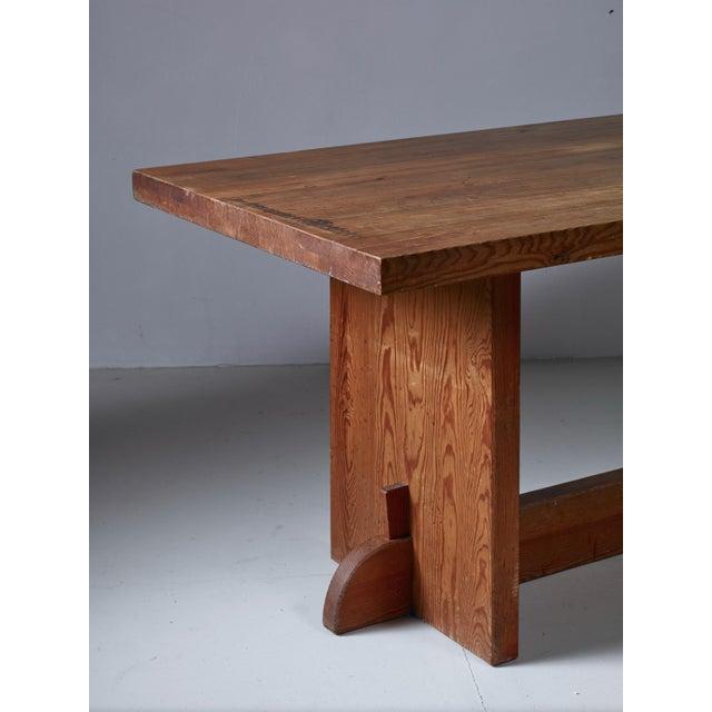 Axel Einar Hjorth Pine 'Lovö' Table for Nordiska Kompaniet, Sweden, 1930s For Sale - Image 6 of 6