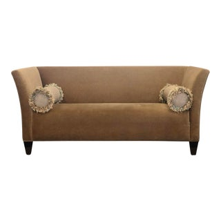 Contemporary Mohair Tuxedo Sofa For Sale