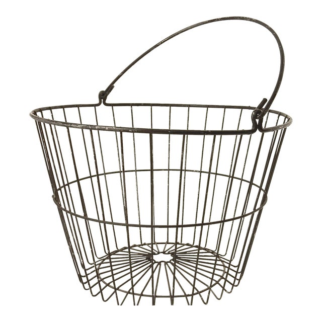 Rustic Industrial Wire Egg Basket - Image 1 of 7