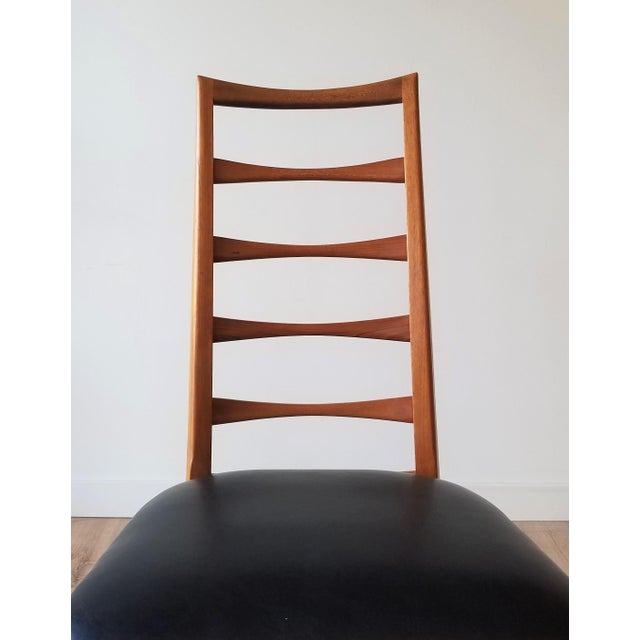 1960s Niels Kofoed for Koefoeds Hornslet Newly Upholstered Teak Ladder Back Dining Chairs - a Pair For Sale - Image 10 of 13