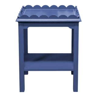 Kindel Mario Buatta Indigo Lamp Table For Sale
