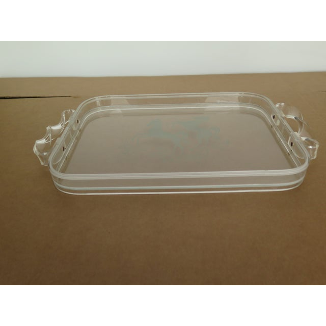 Art Deco 1970's Plexiglas Tray For Sale - Image 3 of 5