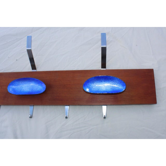 Mid 20th Century Paolo De Poli Attributed Enamel Coat Rack For Sale - Image 5 of 11