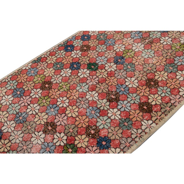 Red Vintage Turkish Scatter Wool Rug 4 X 7 For Sale - Image 8 of 13