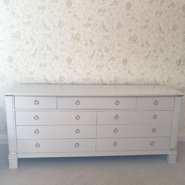 Stunning update for this vintage Baker Furniture chest of drawers. From an estate in Greenwich, CT and probably from the...
