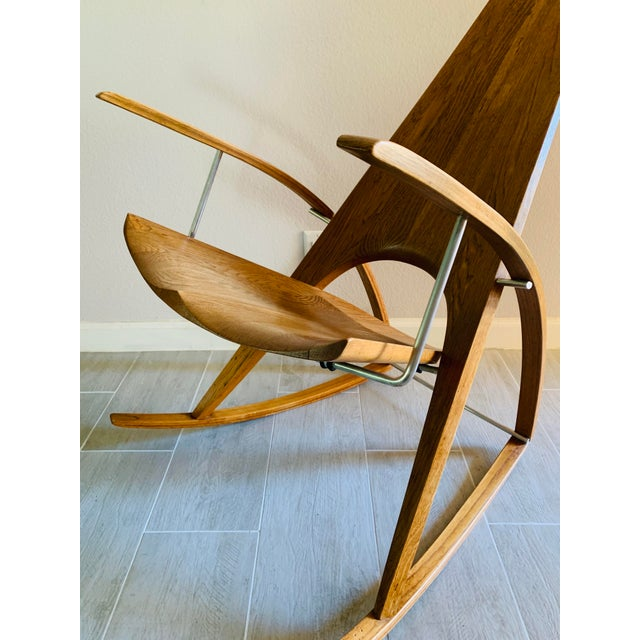 Mid Century Modern Leon Meyer Sculptural Rocking Chair For Sale In Palm Springs - Image 6 of 13