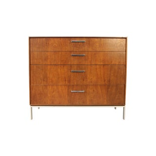 Mid-Century Rosewood With Chrome 4 Drawer Dresser For Sale