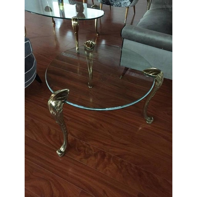 Mid-Century Modern P.E. Gurein Style Brass and Grass End Tables - A Pair For Sale - Image 3 of 7