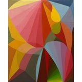 Image of Abstract Colorful Oil Painting by Andrea Ferrigno, Maintenir For Sale