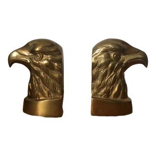 Brass Eagle Bookends - a Pair For Sale