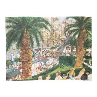 "Franklin McMahon ""Powell Street, San Francisco"" Original Watercolor C.1981 For Sale"